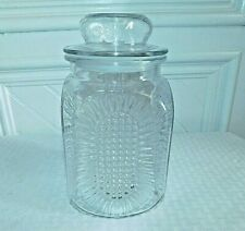 Vintage Anchor Hocking Clear Glass Apothecary Jar Canister