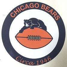 "Chicago Bears NFL 7"" Metal Sign w/ Vintage 1946 Logo"