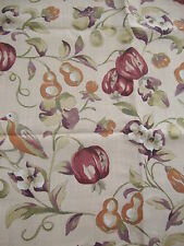 220cm SANDERSON Pears and Pomegranate linen blend curtain upholstery fabric