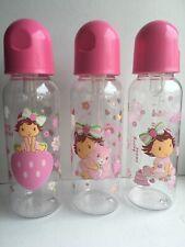 3 Vintage Strawberry Shortcake Baby Bottle New