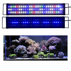 60-80 cm Aquarium Fish Tank Pond RGB LED Strip Lights Bar Lamp Submersible Light