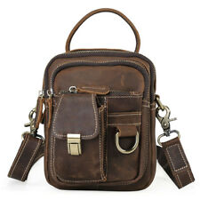 Mens Leather Waist Fanny Bag Shoulder Bag Tote Belt Hip Sports Bag Messenger Bag