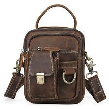 Men Shoulder Bag Waist Fanny Bag Tote Belt Hip Sports Bag Messenger Leather Bag