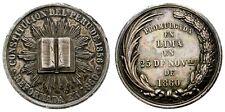 PERU. MEDALLA DE PLATA CONMEMORACION REFORMA DE LA CONSTITUCION 1860 LIMA