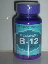 B-COMPLEX B-12 ENERGY PRODUCTION HEALTHY NERVES SKIN EYE 180 QUICK DISSOLVE TABS
