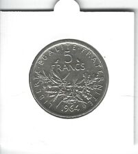 FRANCE 5 Francs Argent Semeuse 1964 Silver coin