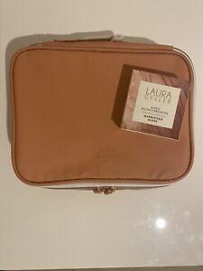 New Laura Geller Baked Blush-n-Brighten Marbleized Blush & Makeup Cosmetics Bag