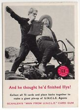 Scanlens Australia The Man From Uncle original 1960s trading card #53