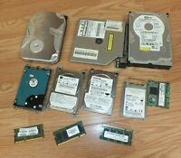 Random Mixed Lot of Multi Brand Hard Drives & Parts For Computers **FOR PARTS**