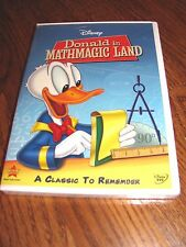 Donald in Mathmagic Land: Walt Disney)DVD,1959) Region 1) New;Rare OOP+Fast Ship