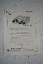 1960 Automatic Car Radio Models CU-39 & UN-40 Service Repair Manual Photofact