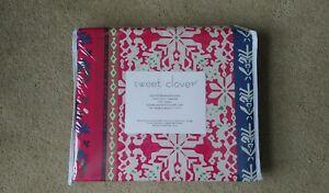 Modcloth Full/Queen Duvet Cover Set 2 Shams Boho Western Pink Stripes Microfiber