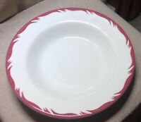 Caribe China Puerto Rico Restaurant Ware Red Wave Soup Bowl VTG