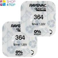 2 RAYOVAC 364 SR621SW BATTERIEN SILVER 1.55V WATCH BATTERY NO MERCURY 2022 NEU
