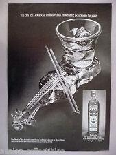 "Old Bushmills Irish Whiskey PRINT AD - 1977 Henry Halem created ""Musician"" glass"