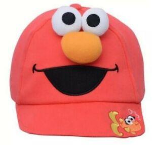 Sesame Street ELMO 3D Face Toddler Soft Baseball Cap NWT