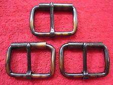 """3 Vintage Nos North &Judd 2"""" Antique Regal Roller Buckles Harness Hames Hardware"""