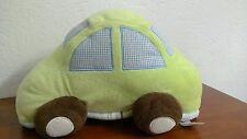 Plush Baby Car Green Blue Kidsline Soft Pillow Mosaic Transport