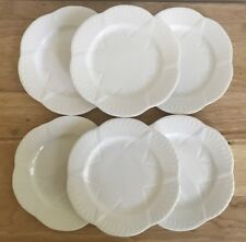 "6 SHELLEY DAINTY WHITE NO TRIM 6.5"" Bone China Bread & Butter Plates - EUC"
