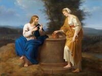 Painting Allegory Biblical Waldmuller Christ Good Samaritan Canvas Art Print