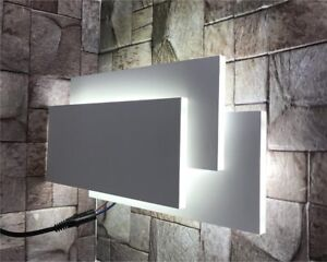 APPLIQUE LED LUCE BIANCA IN VETRO DA PARETE 12 WATT LAMPADA STILE MODERNO
