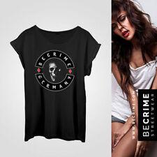 Damen-T-Shirts mit Totenkopf Biker