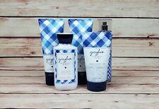 Bath & Body Works Gingham 5 Piece Lotion, Body Scrub & Body Spray Set