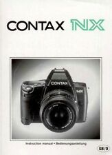 NX  Contax Bedienungsanleitung Manual Instruction