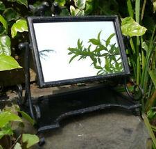 Cheval Mirror With Bird Feeder Black Vintage Metal Garden Feature Freestanding