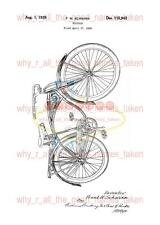United States PATENT : Bicycle by Frank SCHWINN 1939 - A4 Printed Repro Art