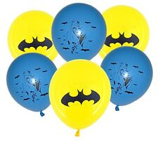 Batman theme latex balloons x 6 Boys Superhero Party Decoration