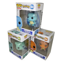 Funko Pop! Pokemon Starter Set #453, 455, 504 - Bulbasaur, Charmander, Squirtle