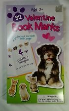 Dog & Cat Bookmark 32 Valentine Day Cards Box damage Ages 3+