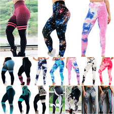 Womens Gym Sports Leggings Yoga Pants Printed Fitness High Waist Workout Casual