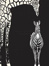 ART PRINT POSTER PAINTING DRAWING ABSTRACT ZEBRA GIRAFFE ZOO LFMP0391