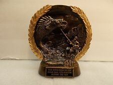Fishing Trophy Award Bronze Free Engraving Ships 2 Day Priority Mail
