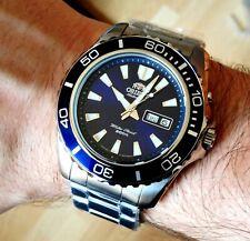 Orient Men's Watch Mako XL Automatic FEM75002DW Diver's 20 Atm IP Silver New