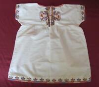 19C. ANTIQUE CHILD GIRLS HAND EMBROIDERED COTTON DRESS