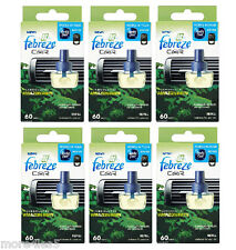 6 x Febreze Car Air Freshener AMAZON RAIN refill refills work in AMBI PUR
