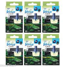 6 x Febreze Car Air Freshener AMAZON RAIN refill refills work in AMBI PUR