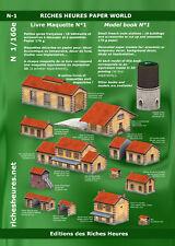 Livre maquette N n°1 - Petites gares - 18 bâtiments à découper et à assembler