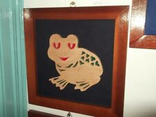 Large Fretwork Picture Frog