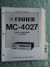 Fisher MC-4027 service manual original repair book stereo receiver tape deck