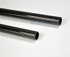 4PCS Roll Wrapped 3K Glossy Carbon Fiber Tube OD34mm*ID32mm*L500mm Twill Weave