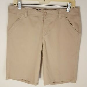 Justice girls tanwalking shortsSize 16 1/2mid rise 4 pocket zips in front