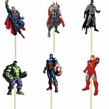 AVENGERS CUPCAKE TOPPERS 12 PCS / PARTY SUPPLIES/ BIRTHDAY KIDS SUPERHERO