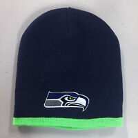 Seattle Seahawks Short Beanie Skull Cap Hat Embroidered SEA