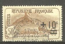 """FRANCE STAMP TIMBRE N° 167 """" ORPHELINS, LION DE BELFORT 1922 """" OBLITERE TTB"""