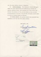 ISAAC HAYES original signed 10 year contract w/ COA