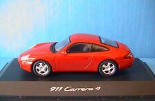 PORSCHE 911 CARRERA 4S ROUGE SCHUCO 1/43 ROT ROSSO RED METALLIC ROUTIERE